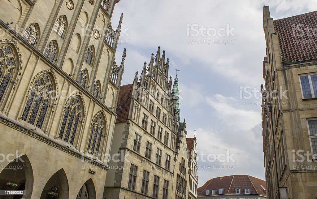 Muenster Germany City buildings royalty-free stock photo