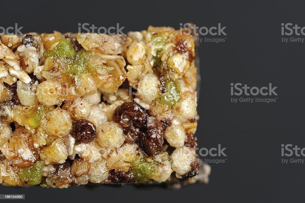 Muesli (Granola) Bar Close-Up royalty-free stock photo