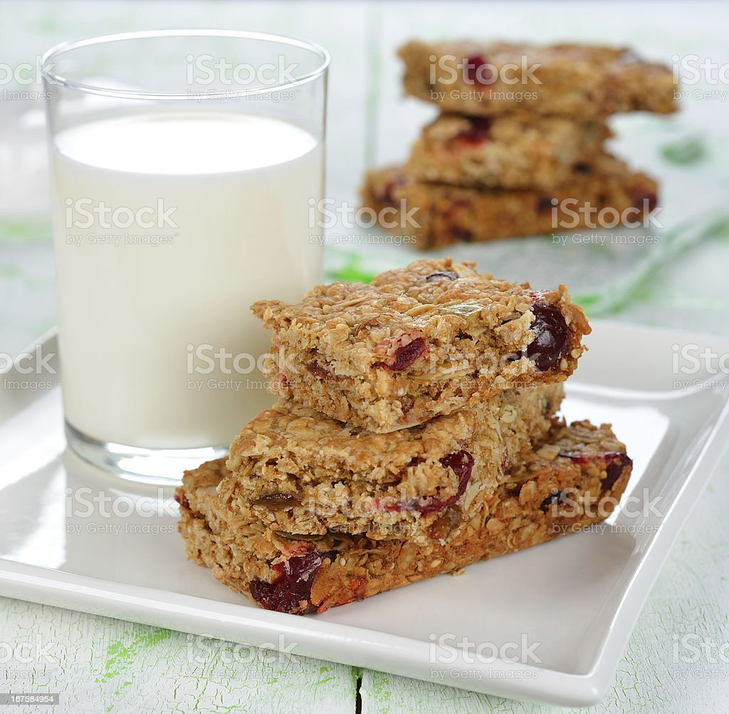 muesli  bars royalty-free stock photo