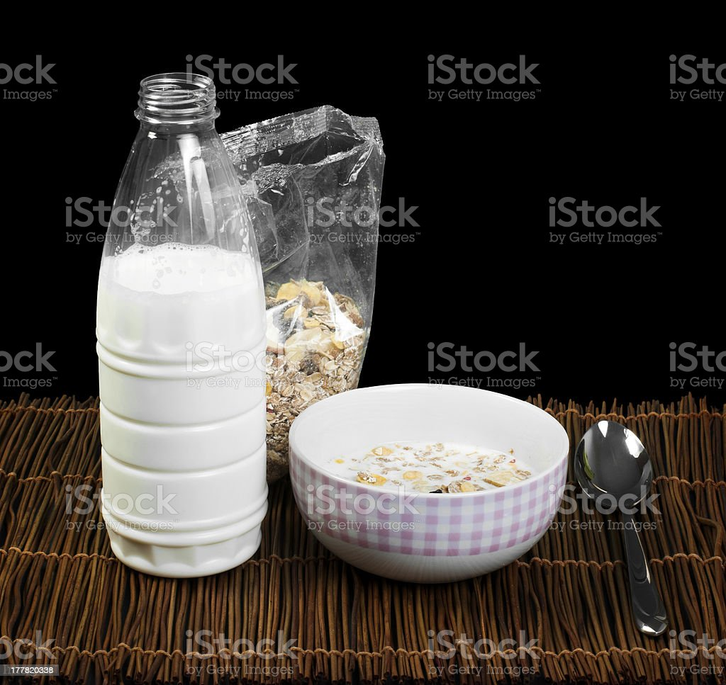 Muesli breakfast in transparent package royalty-free stock photo