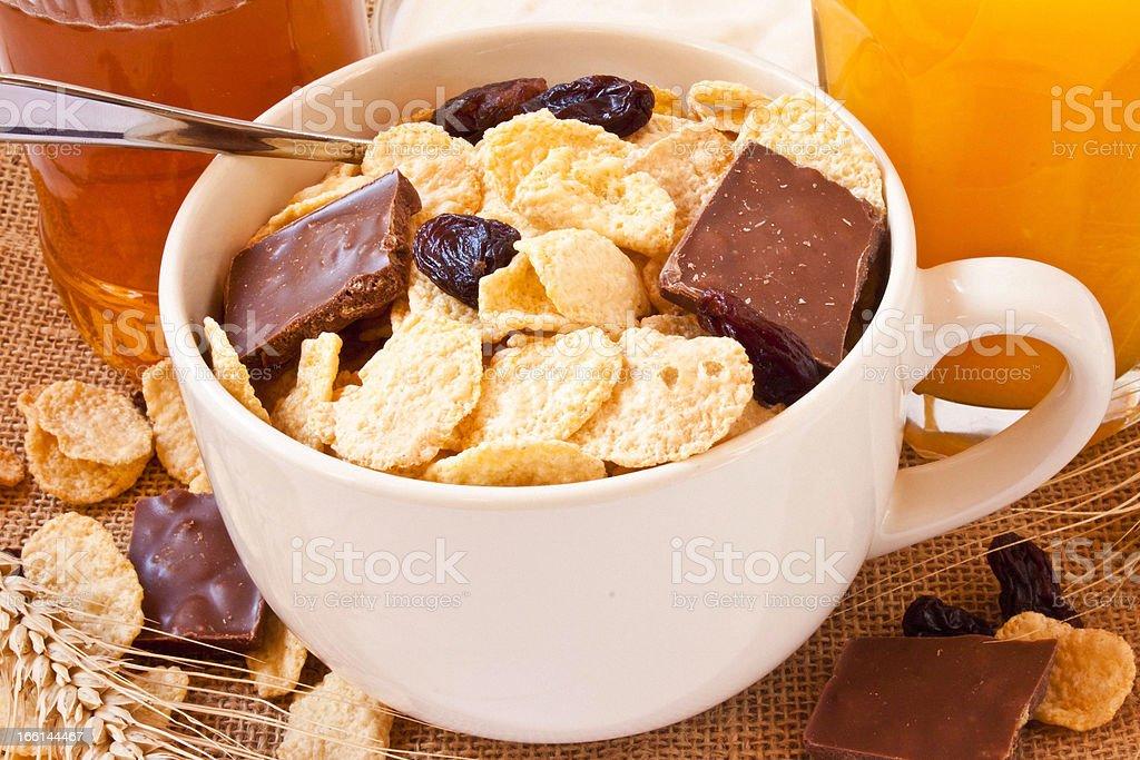 Muesli breakfast royalty-free stock photo