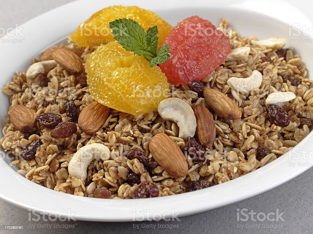Muesli Breakfast stock photo