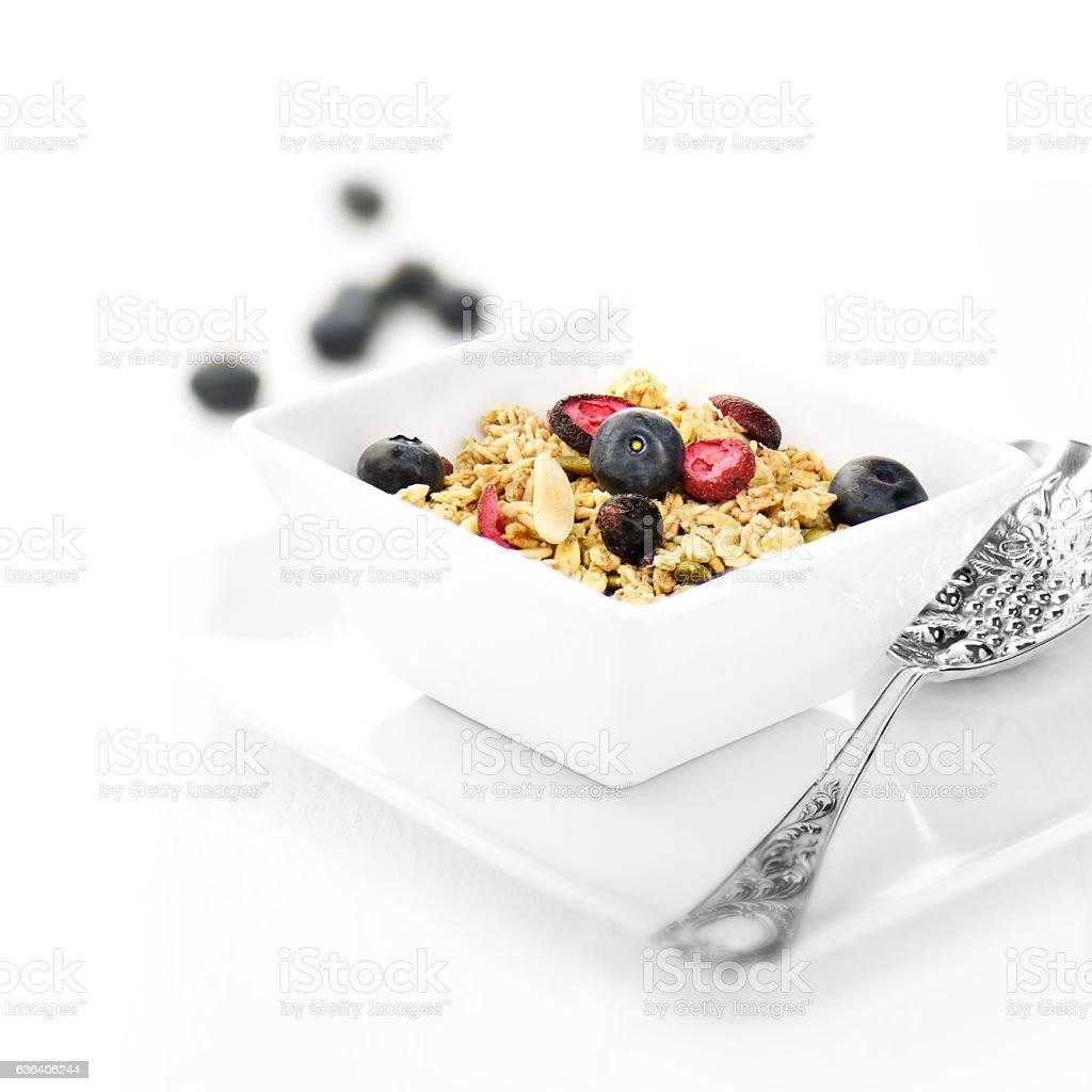 Muesli Breakfast stock photo