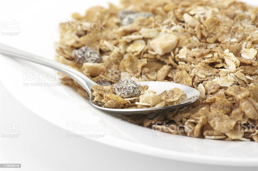 Muesli in plate royalty-free stock photo