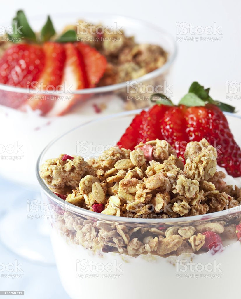 Muesli with greek yogurt royalty-free stock photo