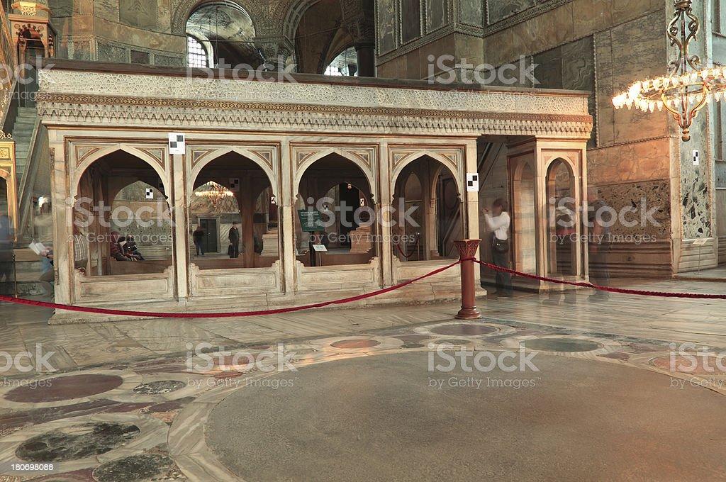 Muezzin's Loge & Hagia Sophia stock photo
