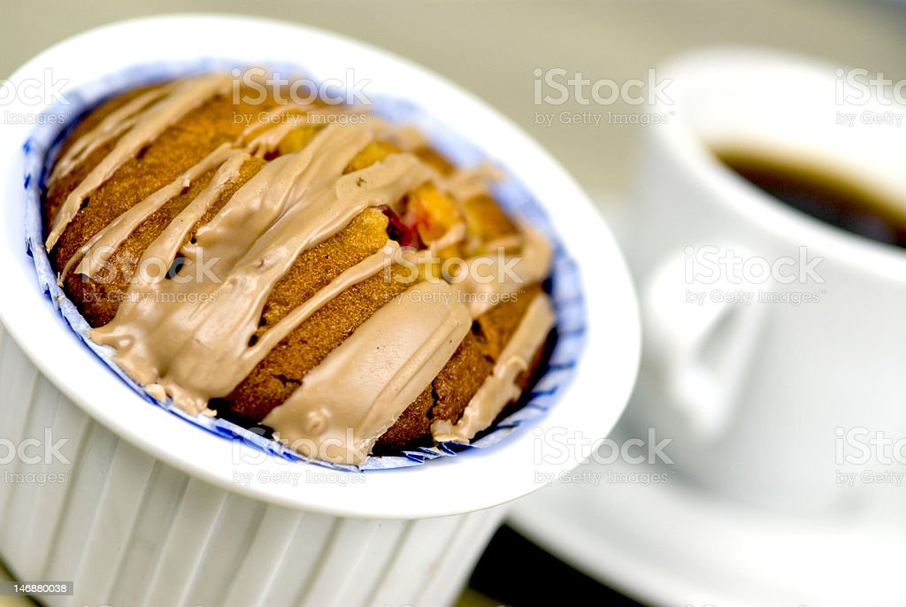 Muffin and cup of coffee royalty-free stock photo