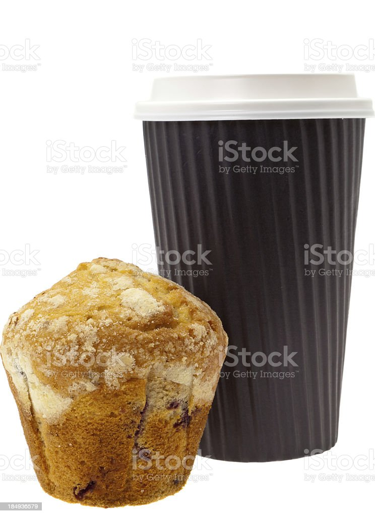 Muffin breakfast on the go royalty-free stock photo