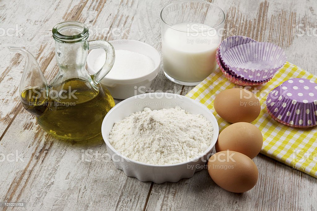muffin ingredients royalty-free stock photo