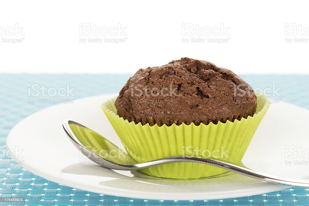Muffin on plate royalty-free stock photo