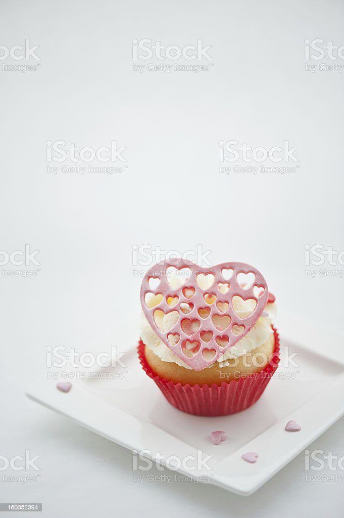 Muffin on the plate. royalty-free stock photo