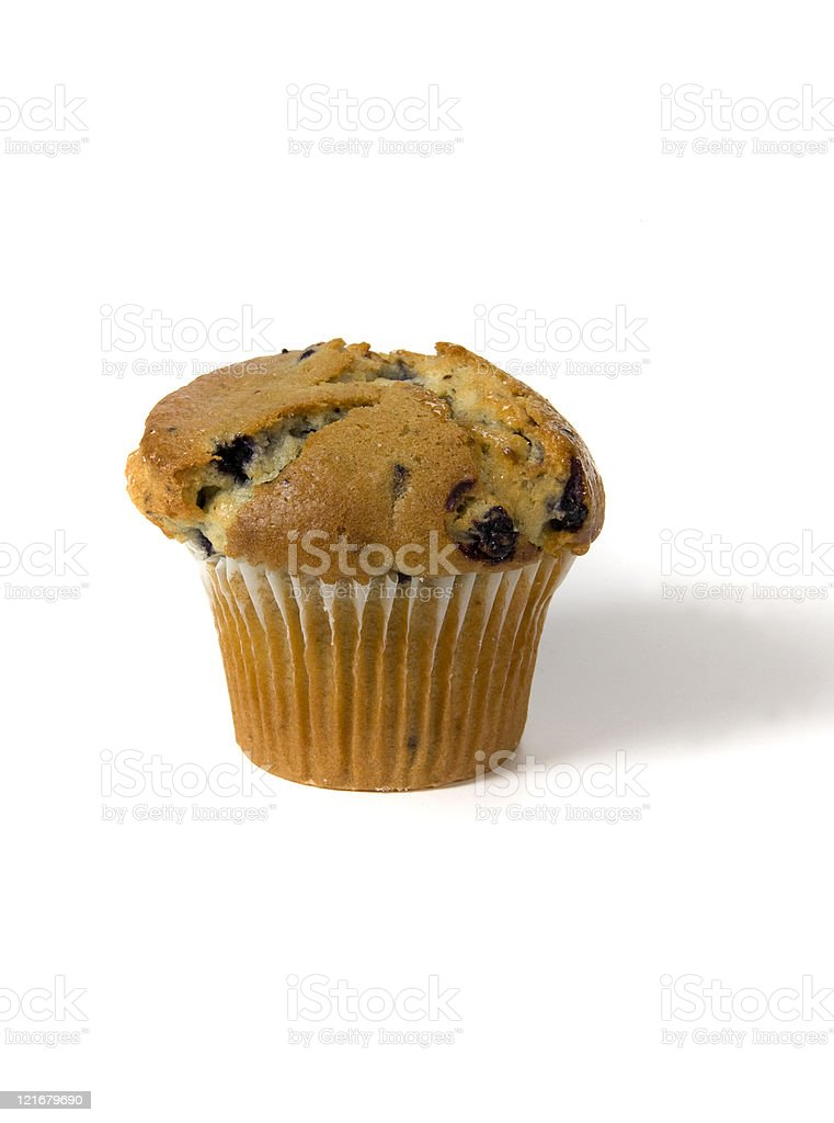 muffin on white royalty-free stock photo