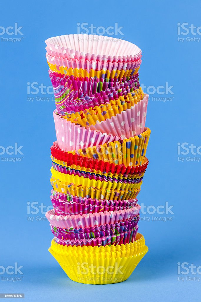 Muffin or cupcake baking cups royalty-free stock photo