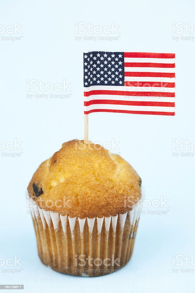 Muffin with American Flag royalty-free stock photo