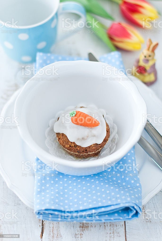 muffin with carrots royalty-free stock photo