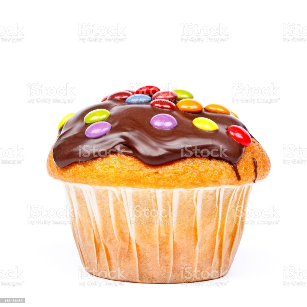Muffin with chocolate royalty-free stock photo