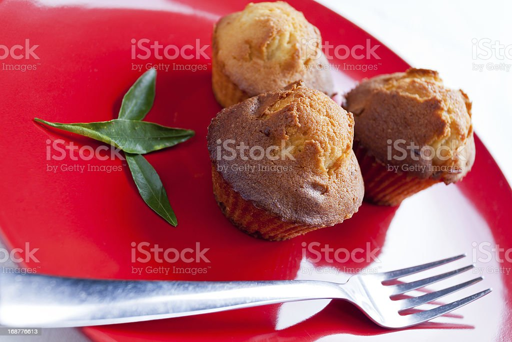 Muffin with figs and white chocolate royalty-free stock photo