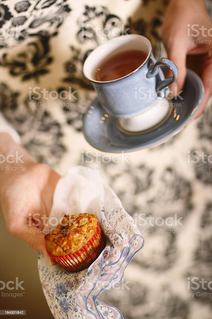 Muffin with Tea royalty-free stock photo
