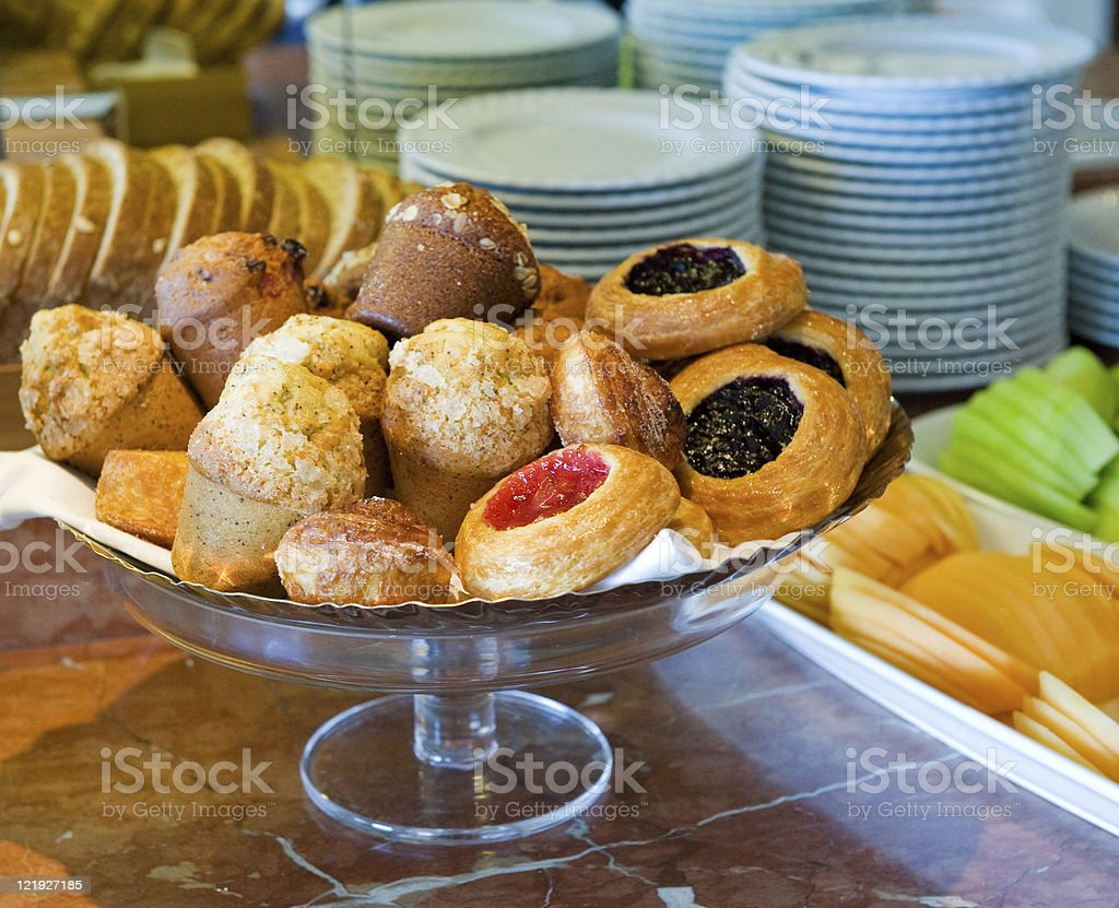 Muffins and Danish for Breakfast royalty-free stock photo