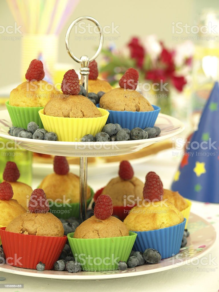 Muffins and fruits royalty-free stock photo