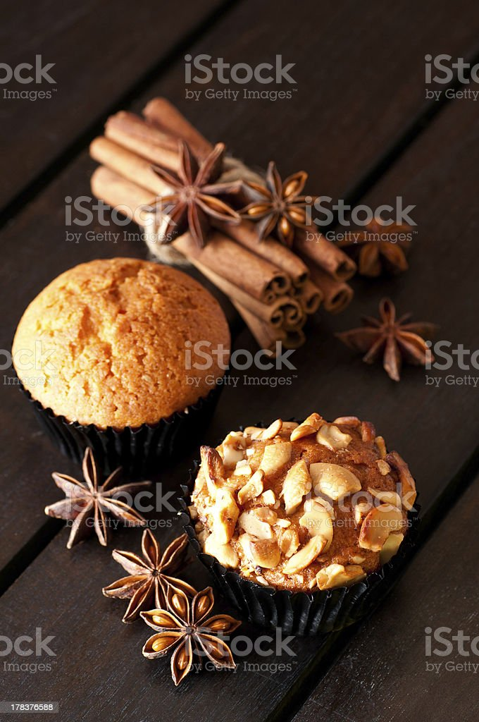 Muffins and spices royalty-free stock photo