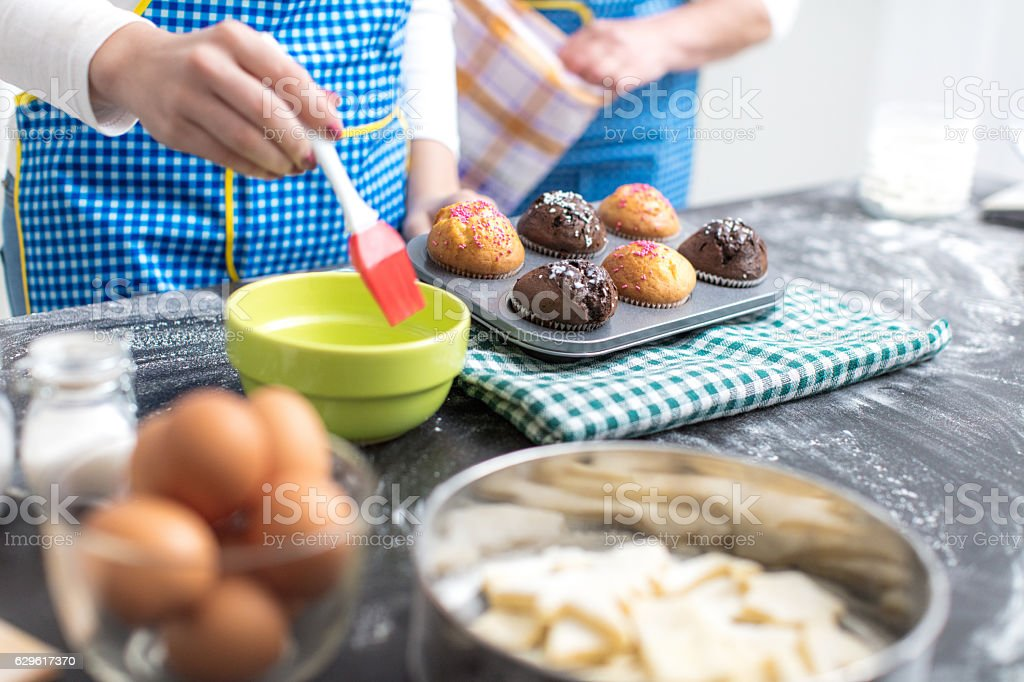 Muffins are ready for eating stock photo