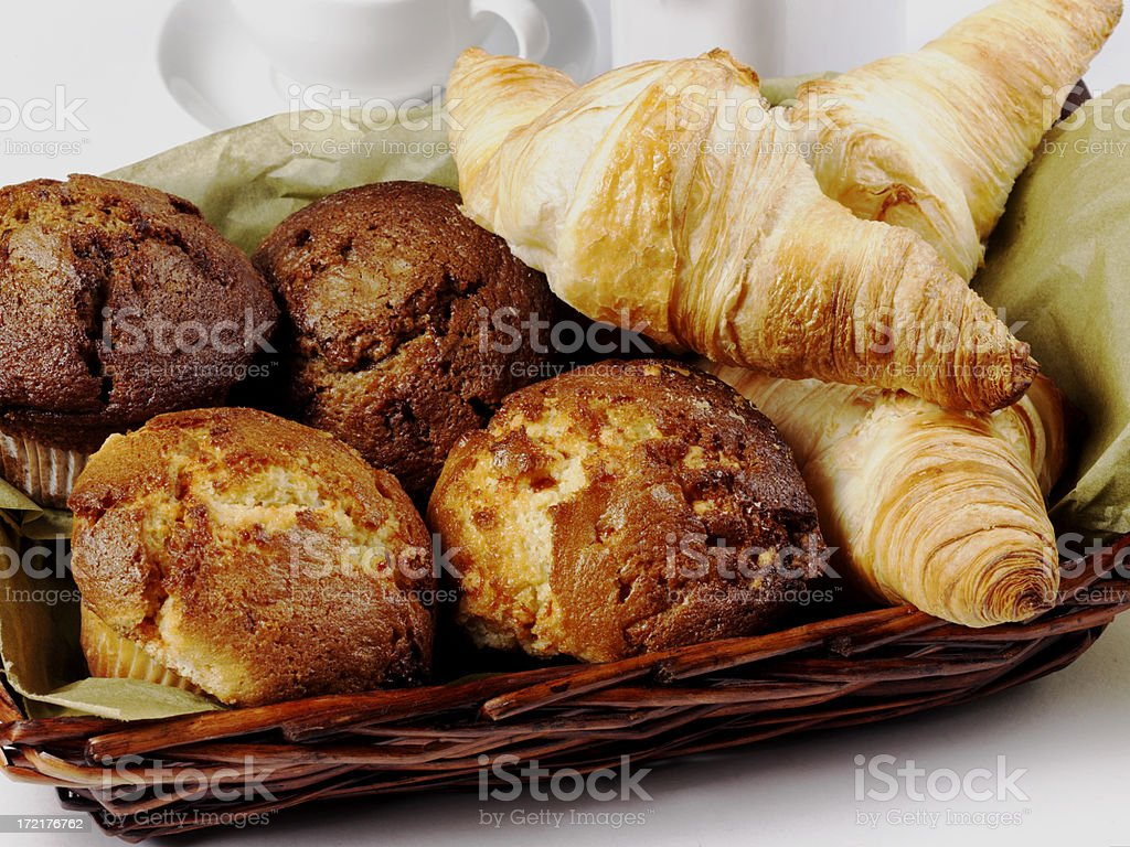 Muffins & Croissants royalty-free stock photo
