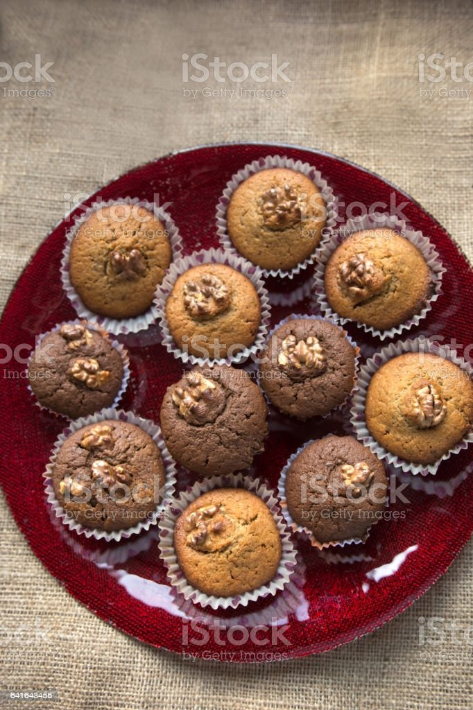 Muffins made in our own kitchen stock photo