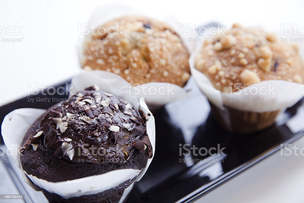 Muffins on a plate royalty-free stock photo