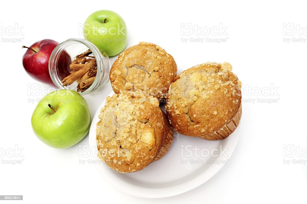 Muffins On A Saucer stock photo