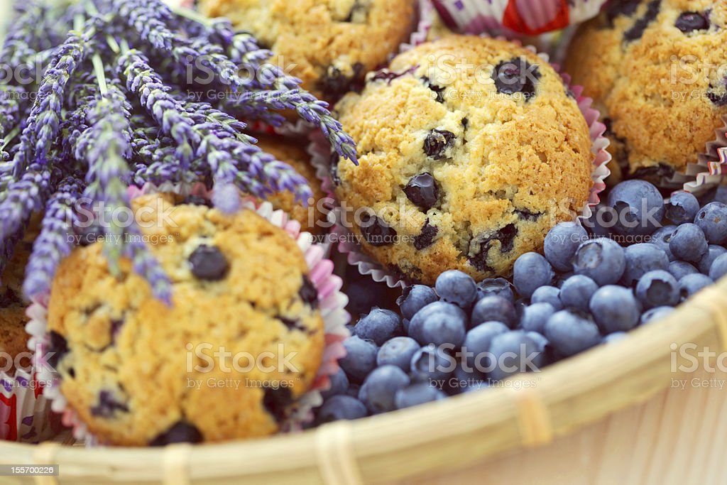 muffins with blueberry royalty-free stock photo