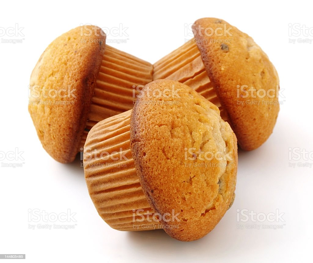 muffins with chocolate filling royalty-free stock photo
