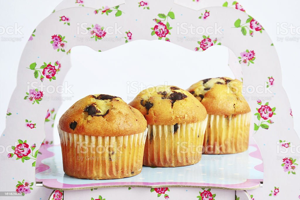 Muffins with chocolate royalty-free stock photo