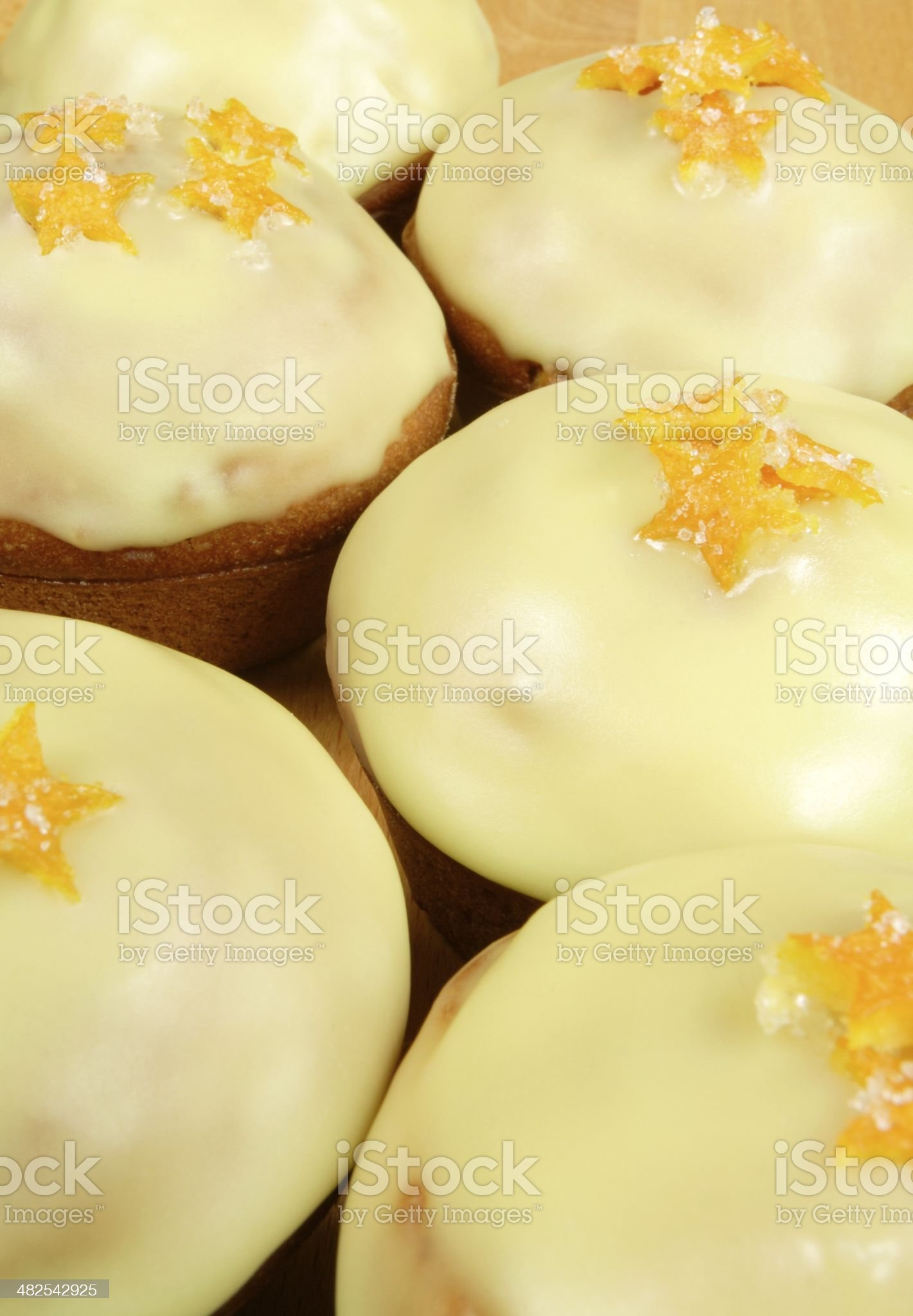 muffins with orange stars royalty-free stock photo