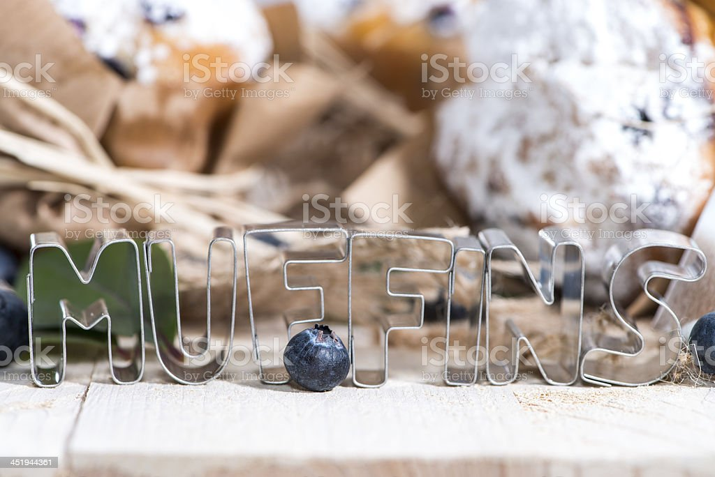 Muffins with sign royalty-free stock photo