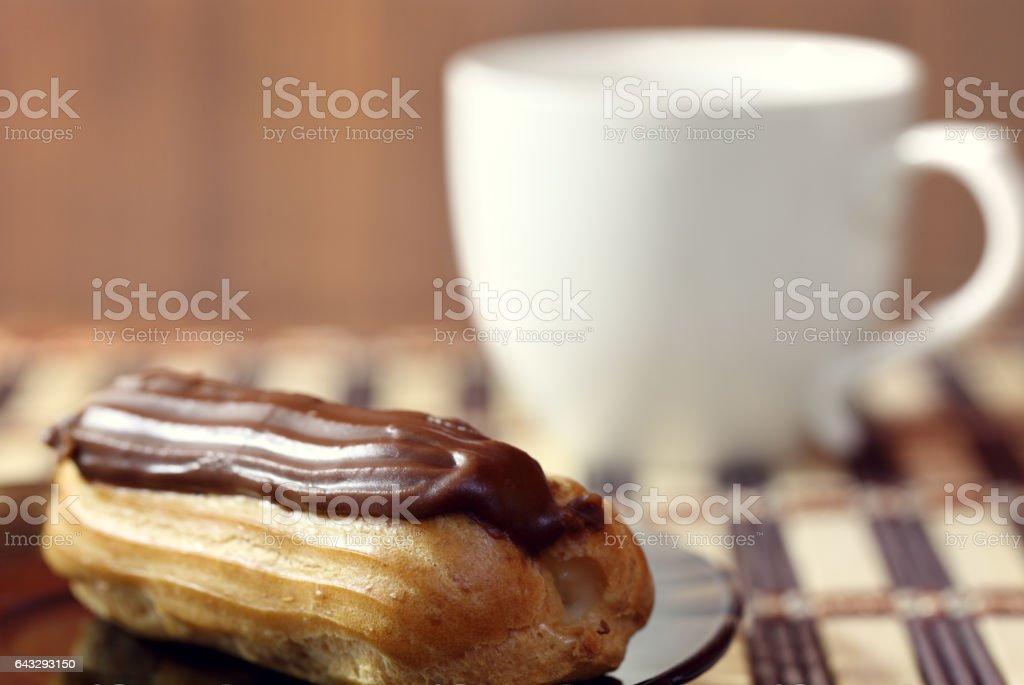 Mug and cake stock photo