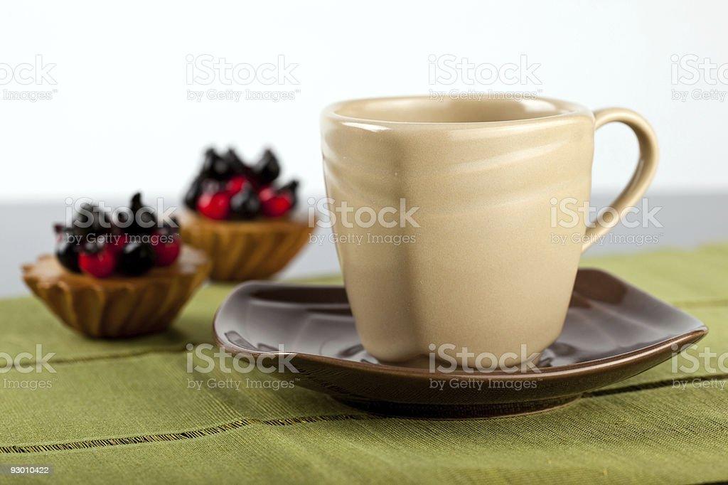 mug 및 타르트입니다 royalty-free 스톡 사진