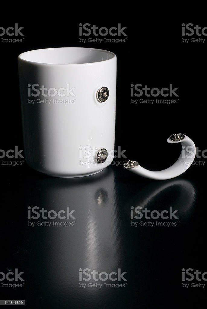 Mug and the movable handle royalty-free stock photo