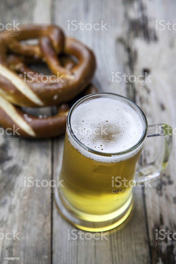 Mug fresh beer royalty-free stock photo