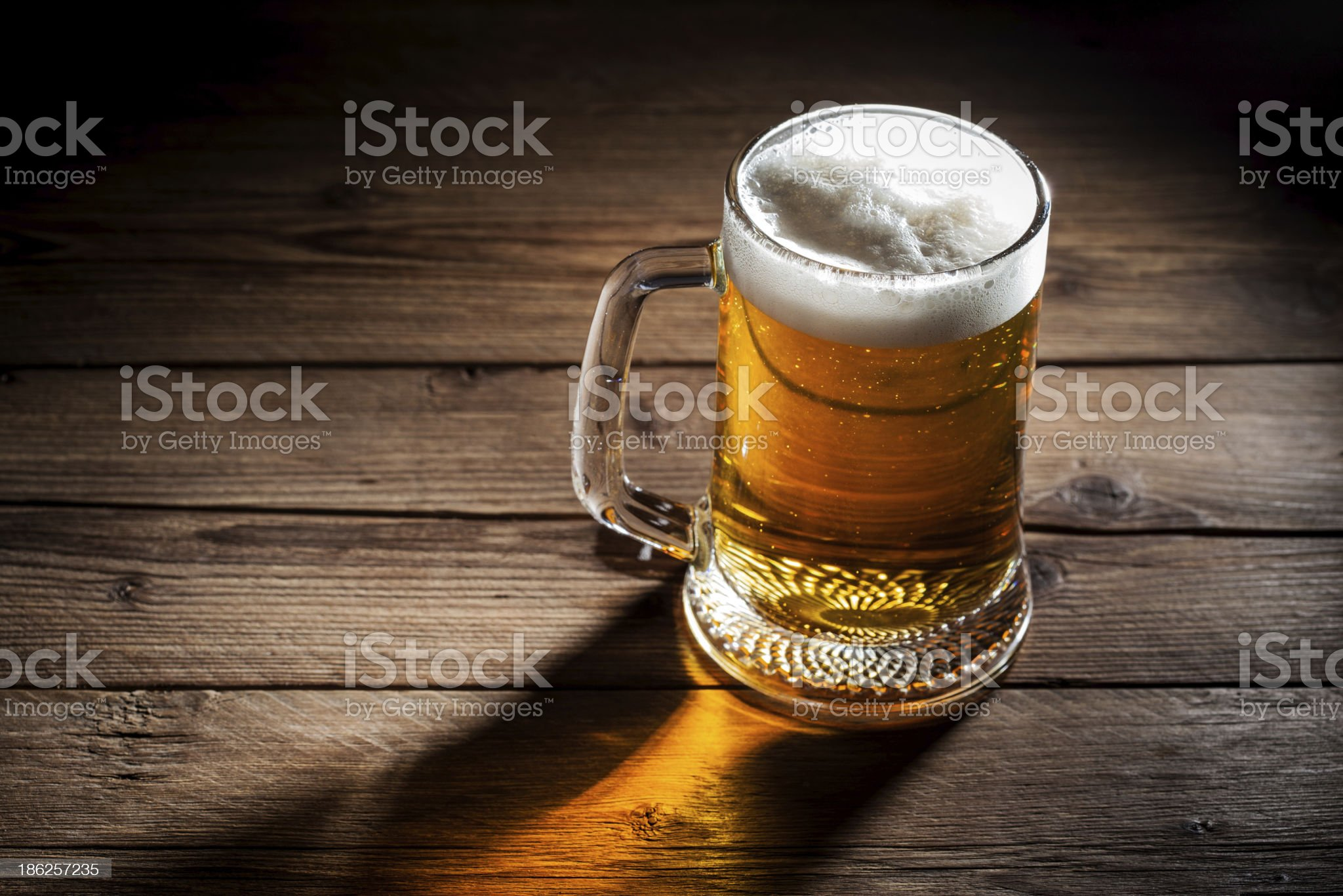 Mug of beer royalty-free stock photo