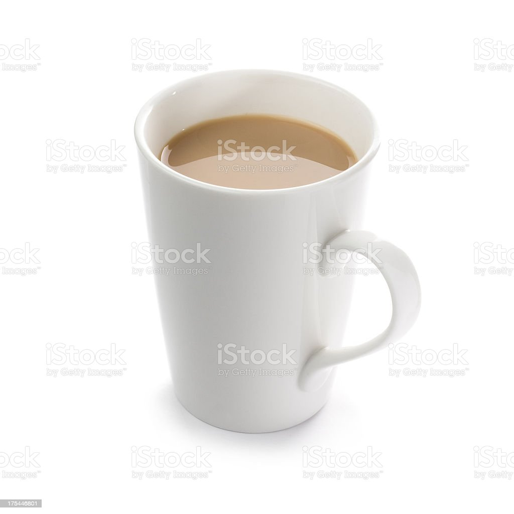 Mug of English breakfast tea on a white background stock photo