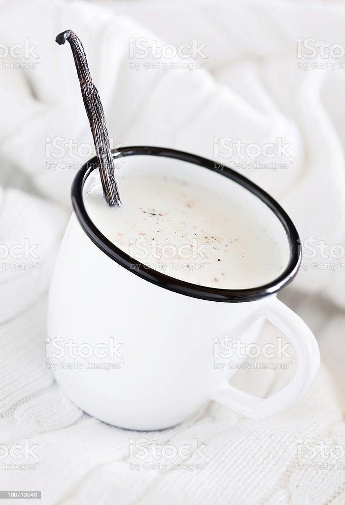 Mug of hot milk royalty-free stock photo