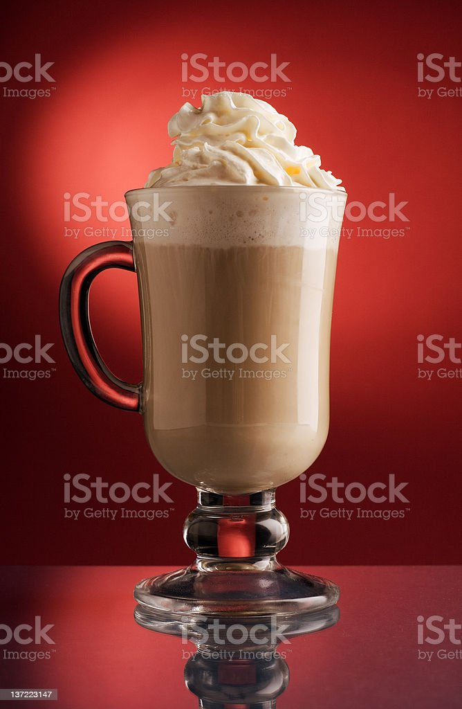 Mug of Irish Coffee royalty-free stock photo