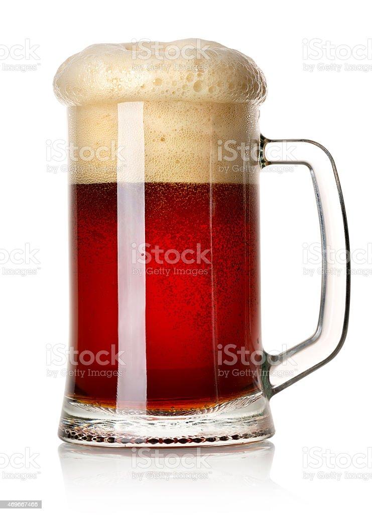 Mug of red beer stock photo
