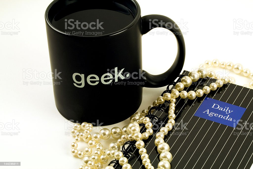 Mug Pearls Calendar royalty-free stock photo