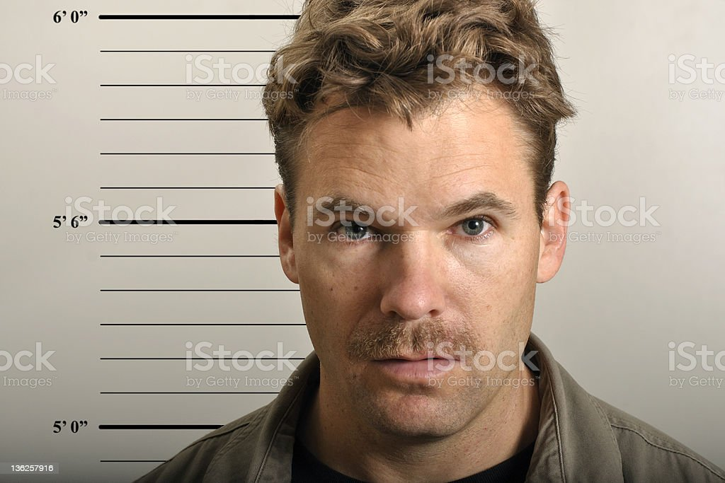 Mug shot stock photo