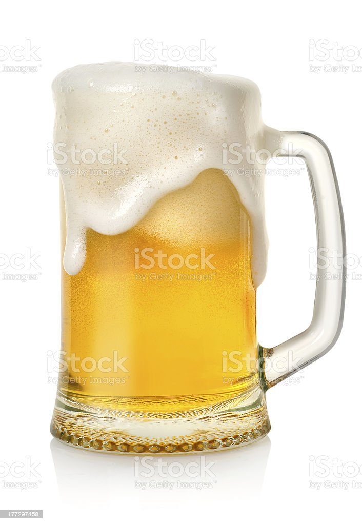 Mug with beer stock photo