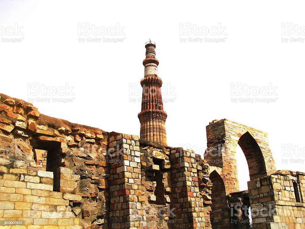 Mughal Empire (Qutb Minar) stock photo