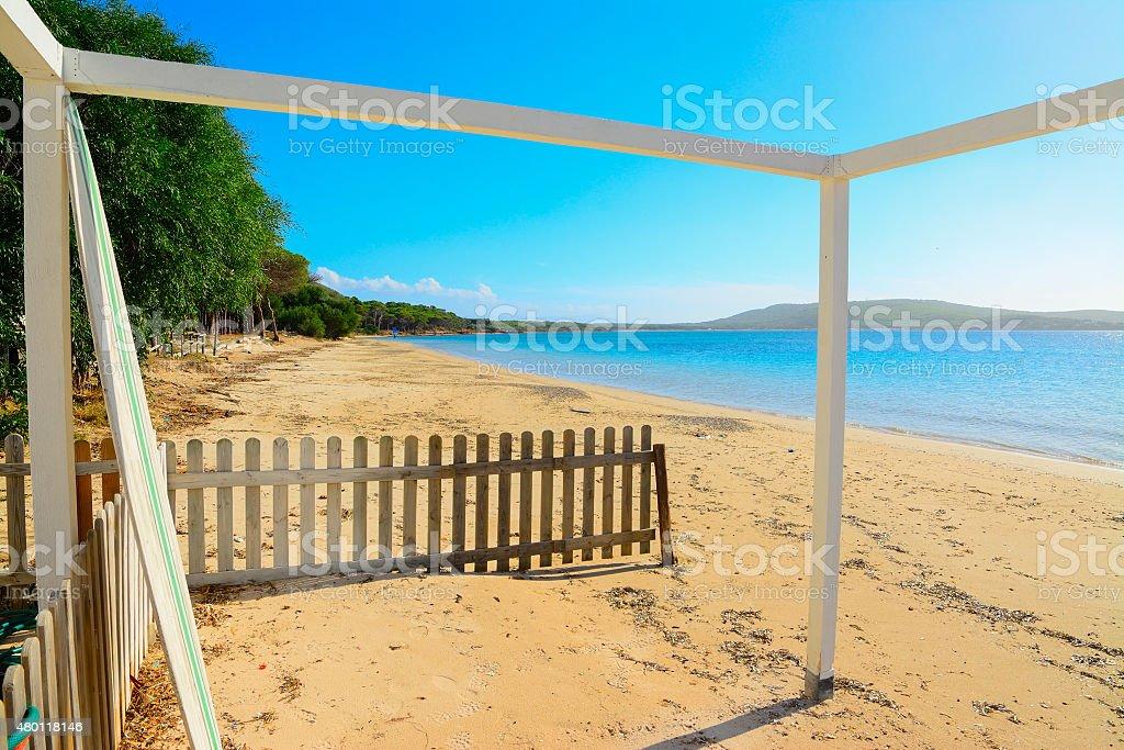 Mugoni beach on a clear day stock photo