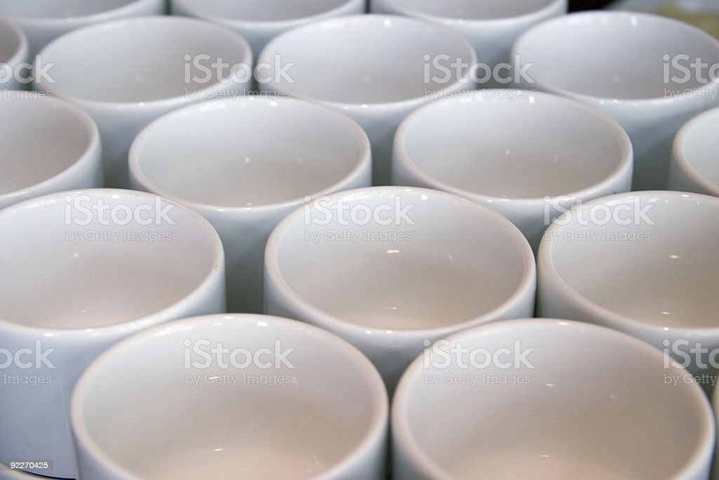 Mugs on Table royalty-free stock photo